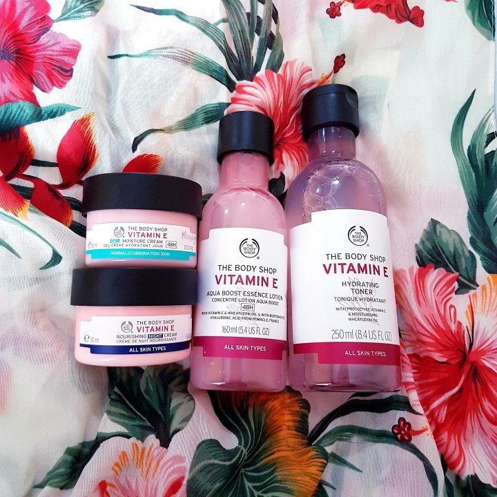 Bodyshop Vitamin E Collection Products